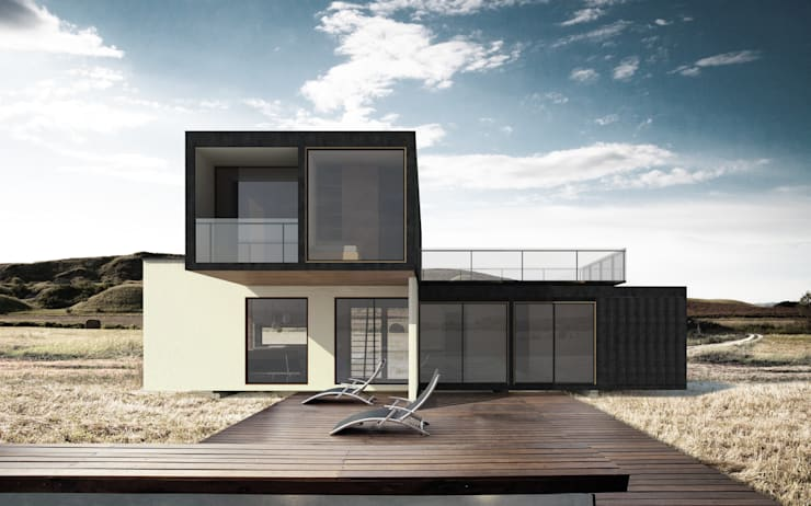 Casa Container 120 m2:  de estilo  por Fabrica ARQ