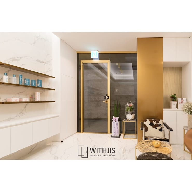 ALU-SW (1SW, 편개형 여닫이도어): WITHJIS(위드지스)의  가게,