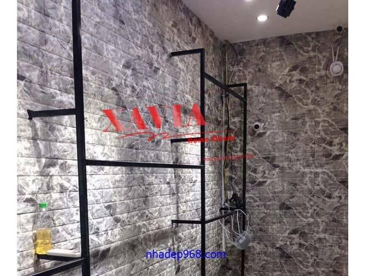 Thi công Xốp dán tường vân đá:   by Công Ty Vật Liệu Nhà Đẹp 968
