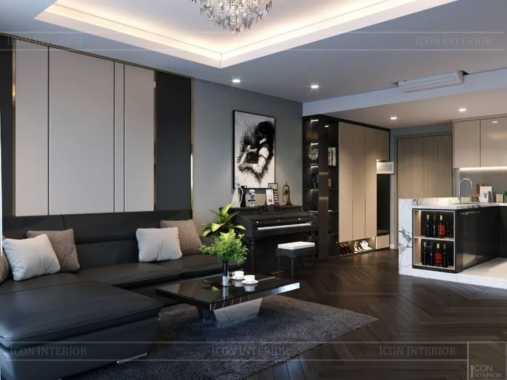 THIẾT KẾ CĂN HỘ ESTELLA HEIGHTS – Thiết kế Nơi bạn thuộc về!:  Phòng khách by ICON INTERIOR
