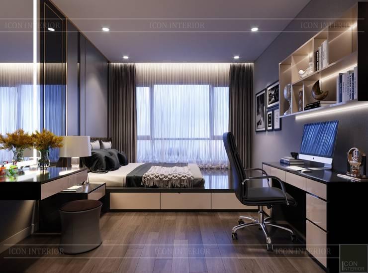 THIẾT KẾ CĂN HỘ ESTELLA HEIGHTS – Thiết kế Nơi bạn thuộc về!:  Phòng ngủ by ICON INTERIOR
