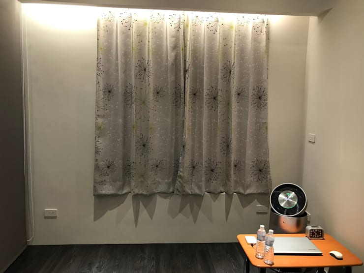 主臥窗戶:  臥室 by 台中室內設計裝修 心之所向設計美學工作室