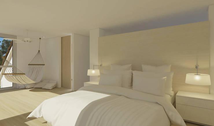 Casa sabanilla : Habitaciones pequeñas de estilo  por 3DStudio.w