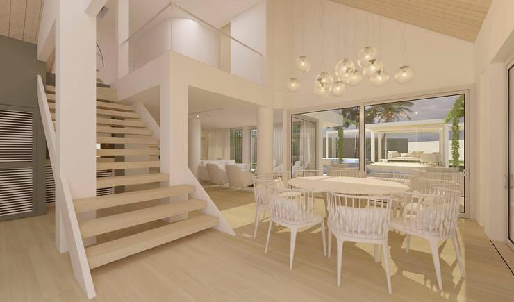 Casa sabanilla : Comedor de estilo  por 3DStudio.w