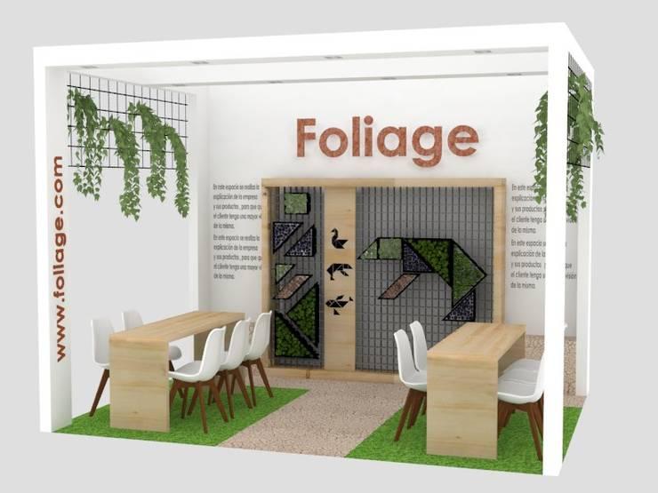 Stand FOLIAGE: Espacios comerciales de estilo  por Decó ambientes a la medida, Ecléctico