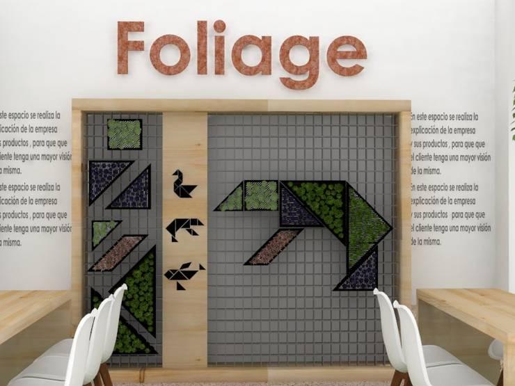 Stand FOLIAGE /Activación marca: Espacios comerciales de estilo  por Decó ambientes a la medida, Ecléctico