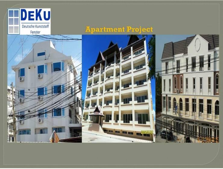 Apartment Project:  โรงแรม by DeKu German Windows Co.,ltd