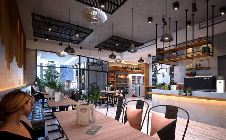 Kosher restaurant by UpMedio Design:  Gastronomy by UpMedio Design
