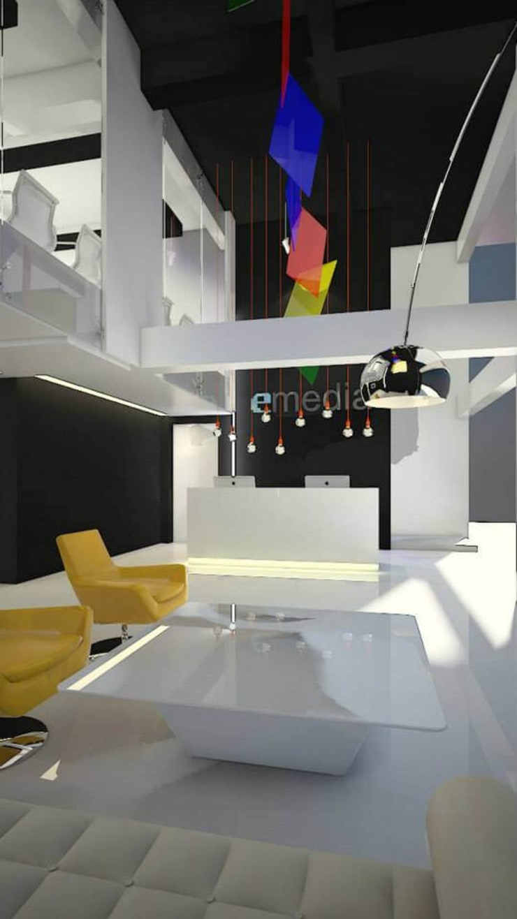 Office Renovation- Emedia:  Study/office by UpMedio Design