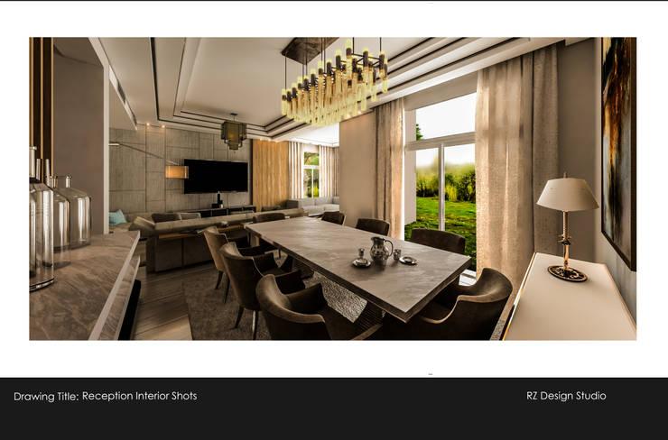 Private residence - Palm Hills Golf:  غرفة السفرة تنفيذ Reham Ezzeldin Design Studio, تبسيطي