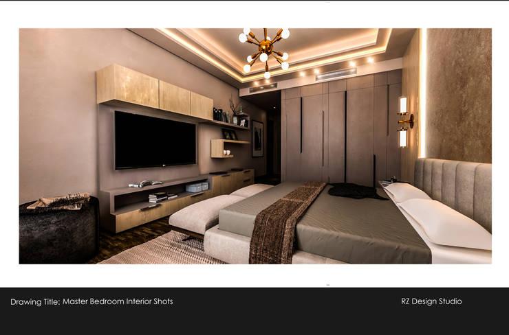 Private residence – Palm Hills Golf:  غرفة نوم تنفيذ Reham Ezzeldin Design Studio
