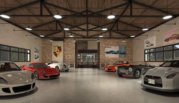 Garage para autos deportivos: Garajes de estilo  por Fainzilber Arqts.,