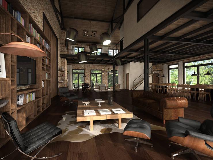 Espacio interior: Livings de estilo  por Fainzilber Arqts.,