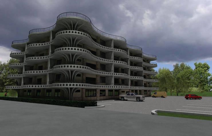 Mixed Use Building Design Dodoma, Tanzania:  Hotels by S3DA Design, Modern