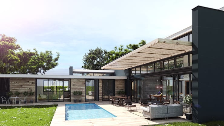 Country house by INSPIRA ARQUITECTOS, Rustic