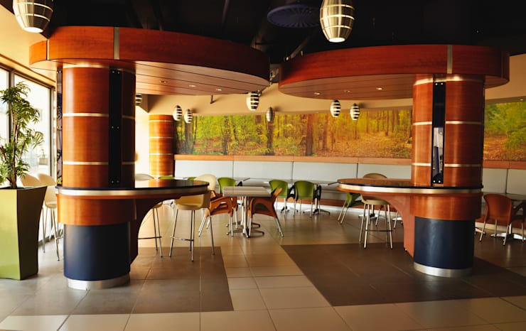 Swaziland Revenue Authority Canteen:  Dining room by Durban Shopfitting & Interiors, Modern