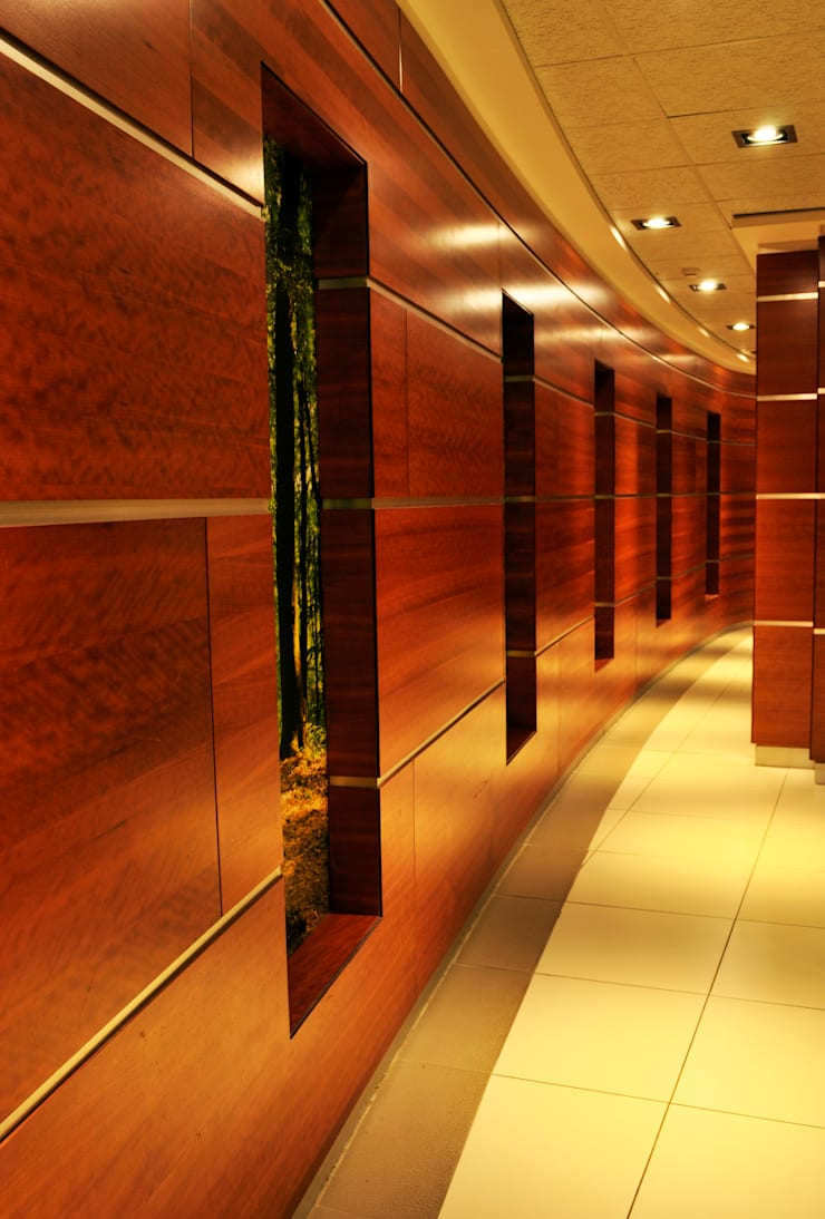 Swaziland Revenue Authority Office Hallway:  Corridor & hallway by Durban Shopfitting & Interiors, Modern