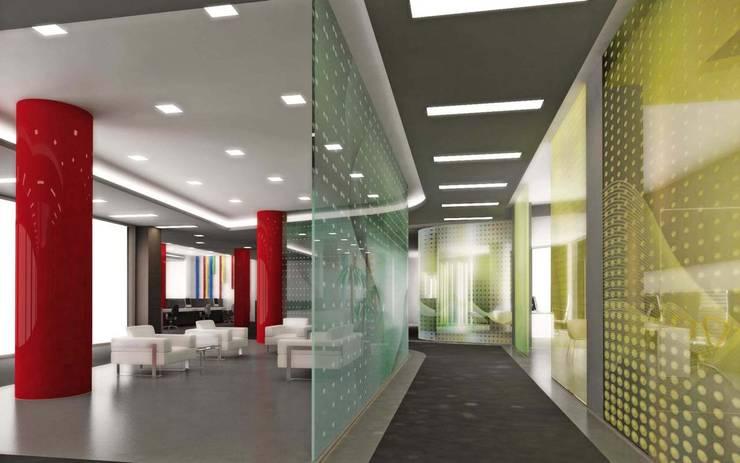 ANTE MİMARLIK  – Cam bölmeler:  tarz Ofis Alanları, Modern
