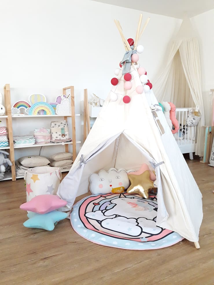 CARPITA INDIA en lienzo modelo alto: Dormitorios infantiles  de estilo  por ANDALAOSA TIENDA DECOKIDS,