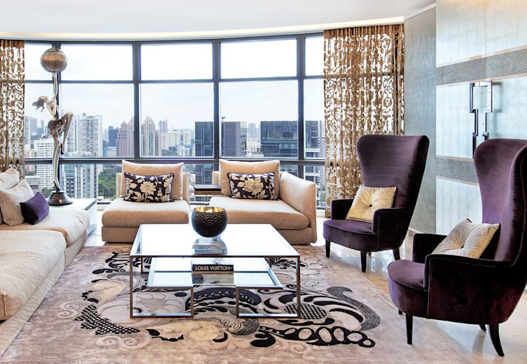 Living room by Design Intervention, Asian