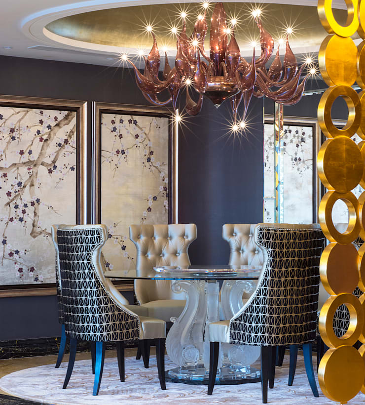 Dining room by Design Intervention, Asian
