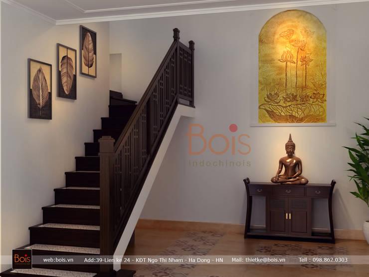 Sofa go:  Living room by Công ty TNHH tư vấn thiết kế kiến trúc và nội thất Bois