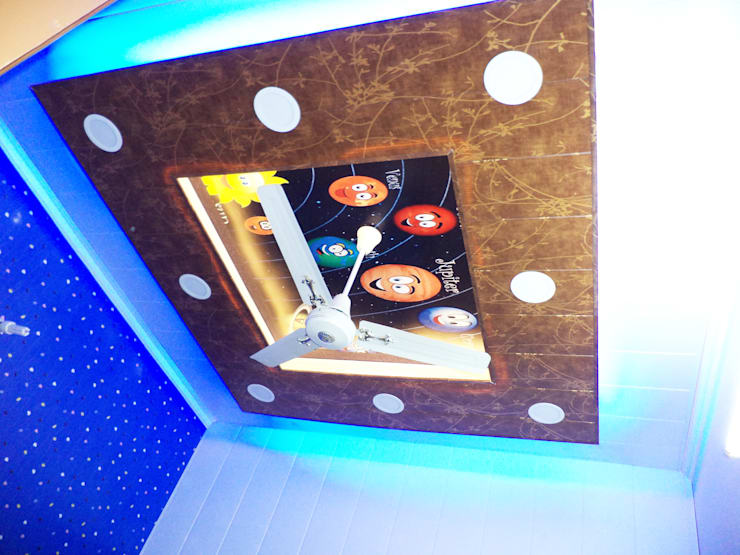 False ceiling done for a kothi in Mohali designed according to rooms:  Bathroom by Mohali Interiors,Modern