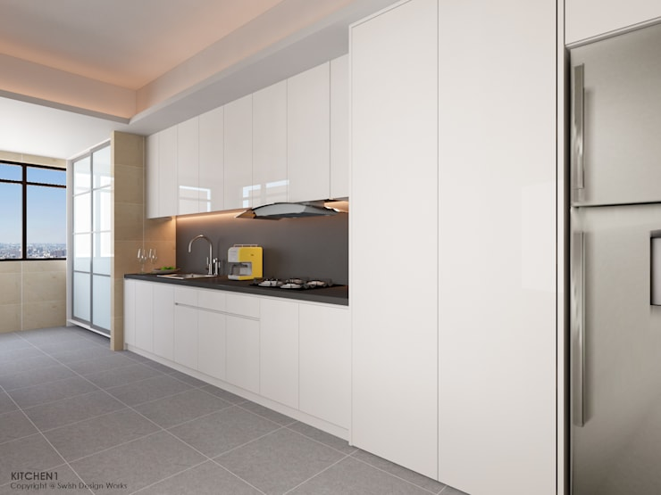Dapur built in oleh Swish Design Works