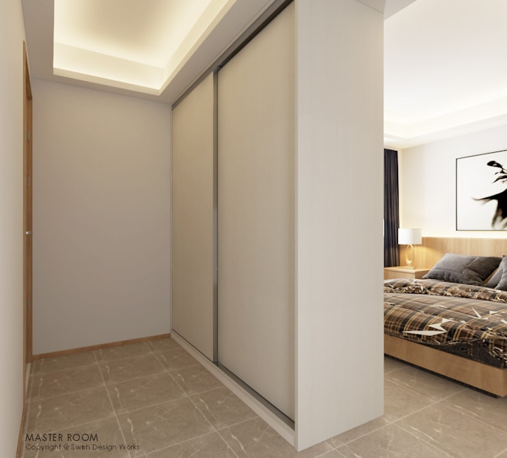 Compassvale Lane:  Small bedroom by Swish Design Works