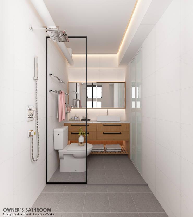 Compassvale Lane:  Bathroom by Swish Design Works