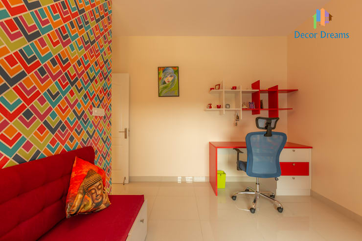 Brigade Meadows, 3 BHK—Dr. Usha & Dr. Mohan:  Small bedroom by DECOR DREAMS