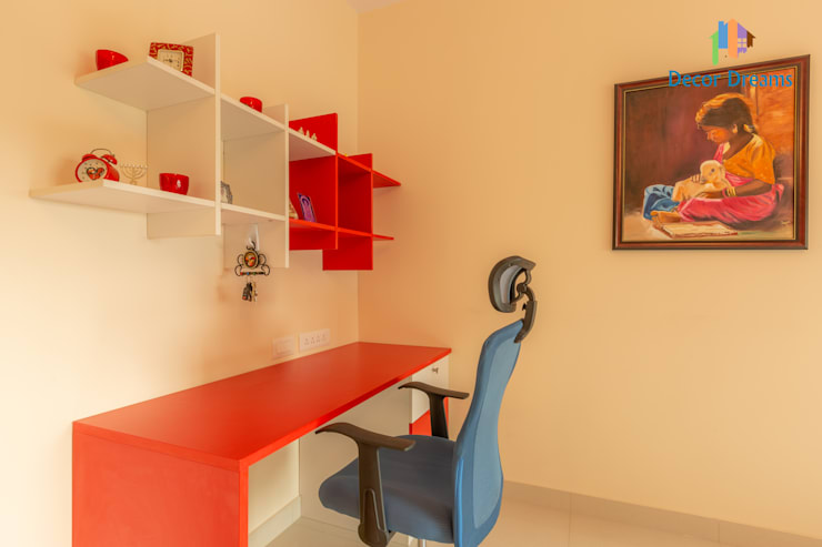 Brigade Meadows, 3 BHK—Dr. Usha & Dr. Mohan:  Study/office by DECOR DREAMS