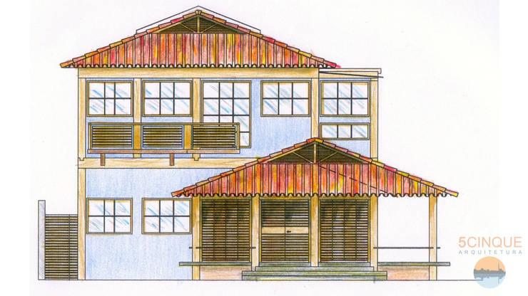 Desenho de casa de praia: Casas  por 5CINQUE ARQUITETURA LTDA