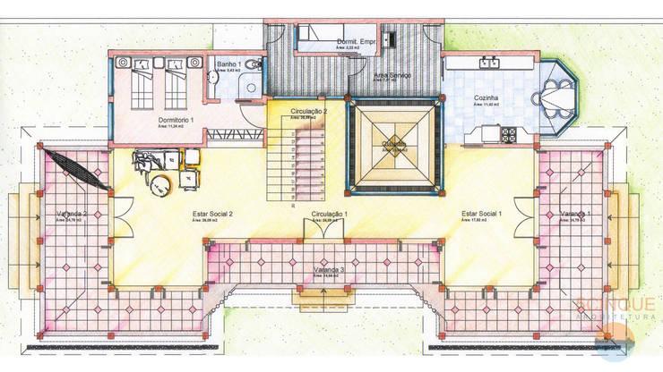 Planta baixa - casa de praia: Casas  por 5CINQUE ARQUITETURA LTDA
