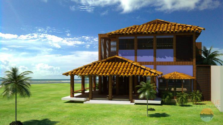Projeto de Sobrado - Casa de Praia na Bahia: Casas  por 5CINQUE ARQUITETURA LTDA
