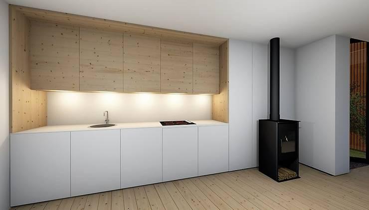 Cocinas equipadas de estilo  por GomesAmorim Arquitetura, Moderno