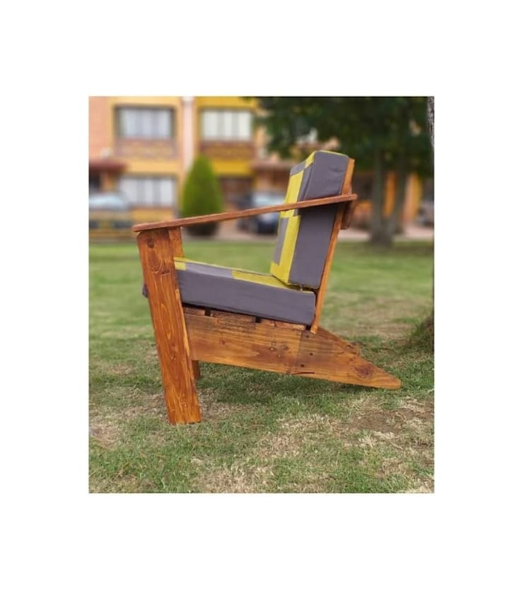 SILLA ESTILO ADIRONDACK de Pájaro Carpintero Rústico Madera Acabado en madera