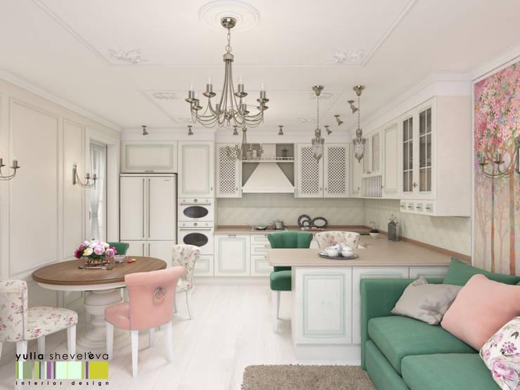 Kitchen by Мастерская интерьера Юлии Шевелевой,