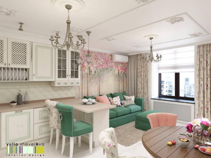 Living room by Мастерская интерьера Юлии Шевелевой,
