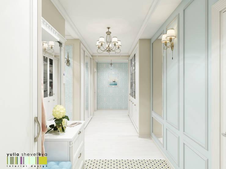Corridor & hallway by Мастерская интерьера Юлии Шевелевой,
