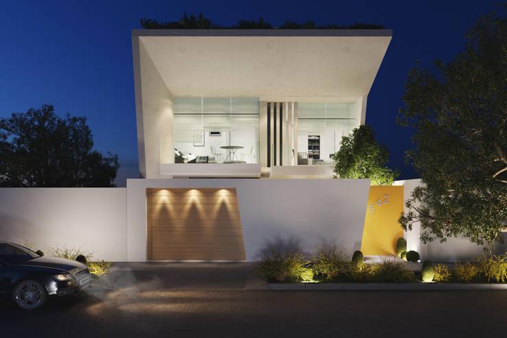 FACADE : Casas unifamiliares de estilo  por Studio17-Arquitectura