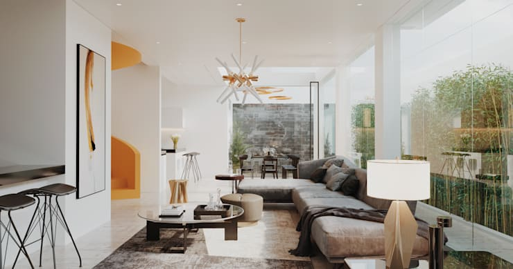 LIVING ROOM: Comedores de estilo  por Studio17-Arquitectura