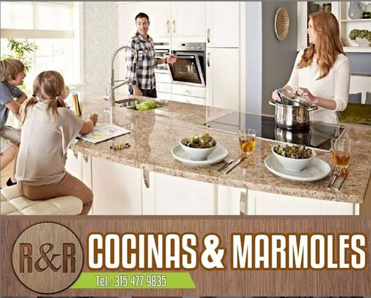 Cocinas modernas de Cocinasymarmolesryr Moderno