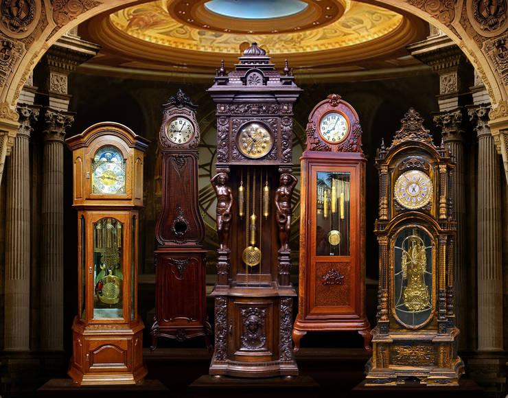 Những mẫu đồng hồ cây đẹp và độc đáo:  Living room by Cửa Hàng Đồng Hồ Cây, Tủ Cổ, Treo Tường Và Để Bàn