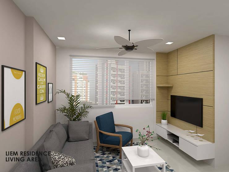 Buangkok Link:  Living room by Swish Design Works