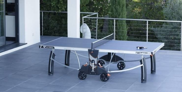 Wetterfeste Tischtennisplatte für die Terrasse: modern  von Tischtennis pur e.K.,Modern