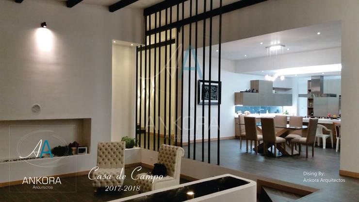 CASA CANO Salas modernas de ANKORA ARQUITECTOS Moderno Concreto