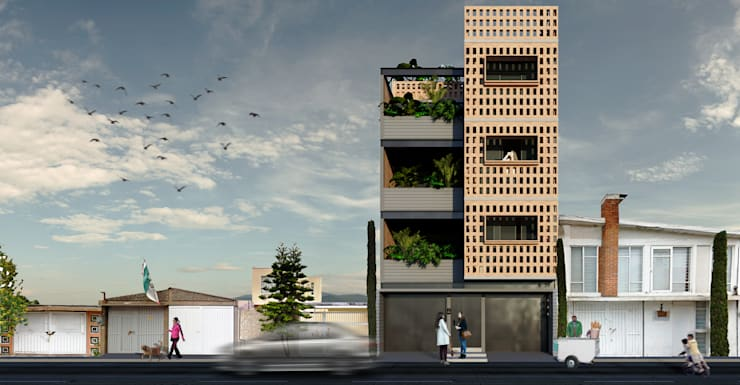 Fachada: Casas de estilo  por idA Arquitectos