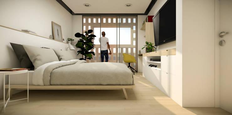 Recamara: Recámaras de estilo  por idA Arquitectos