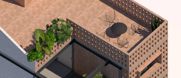 Terraza: Terrazas de estilo  por idA Arquitectos